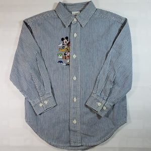Disney Store Boys Embroidery Shirt Small